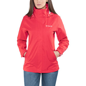 Columbia Trestle Trail Chaqueta con capucha Mujer, red camellia